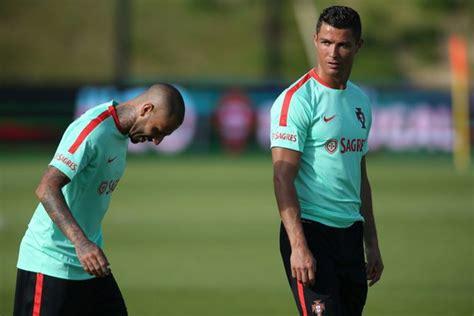 portugal winger ricardo quaresma doubtful for iceland clash news18 cristiano ronaldo joins portugal in euro 2016 training