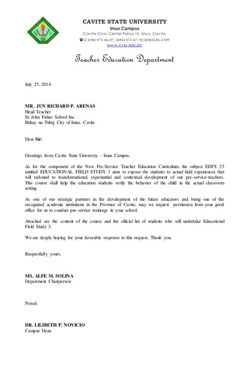 Official Visit Letter Fs3 Letter