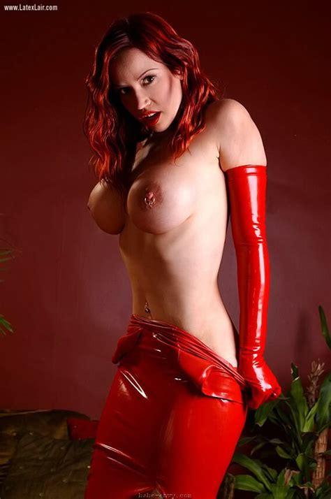 Bianca Beauchamp In Red Latex