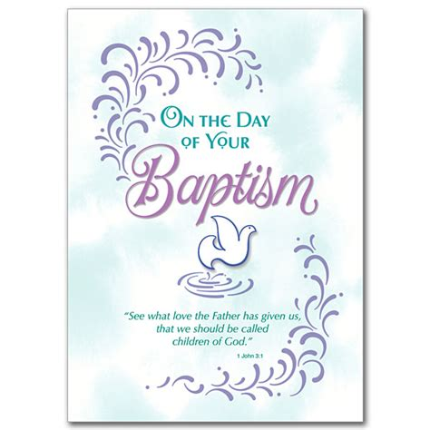 On the Day of Your Baptism: Adult Baptism Card
