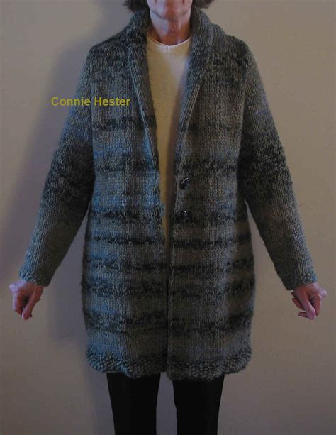 knitting patterns for jackets bulky knit coat pattern with shawl collar