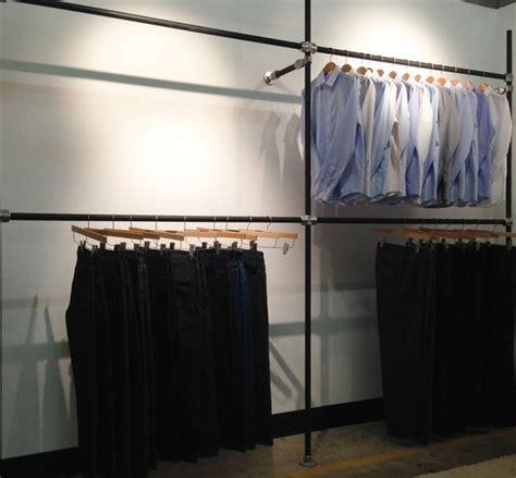 Diy Wardrobe Rack by Diy Garment Rack For S Clothing Showroom Simplified