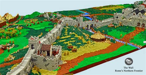 Tiny House Innovations by British Enthusiasts Recreate The Hadrian S Wall Using Lego