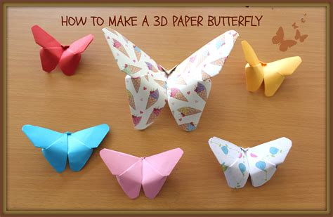 How To Make Butterfly From Paper - how to make an easy 3d paper butterfly kirigami style