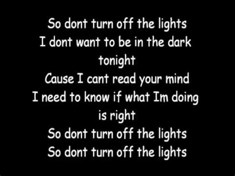 Don T Turn The Lights by Enrique Iglesias Don T Turn The Lights Lyrics
