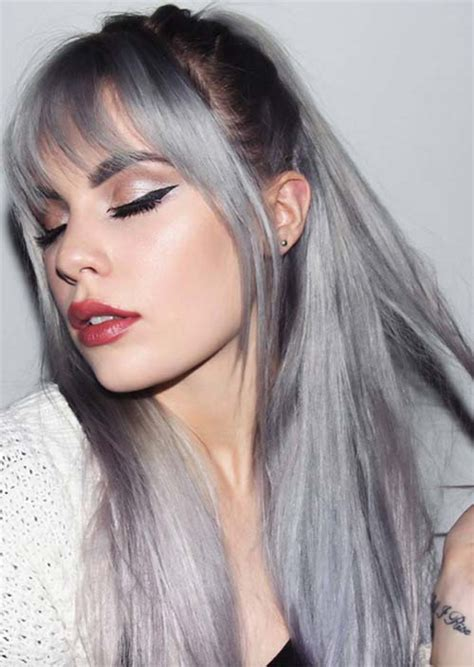 gray hair color ideas silver hair trend 51 cool grey hair colors tips for