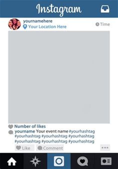 layout instagram border free instagram frame party template in photoshop and