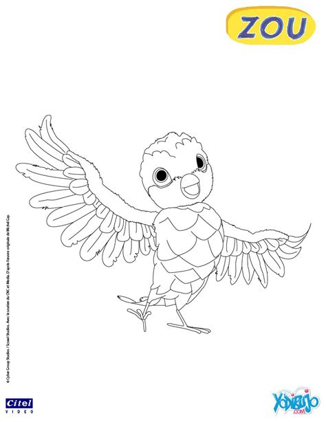 dibujos infantiles zou dibujos para colorear poc el p 225 jaro es hellokids com