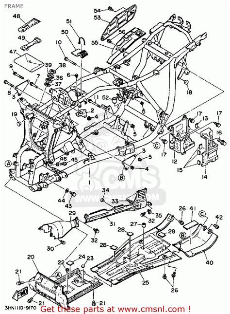 yamaha big parts diagram yamaha yfm350fww 1989 big frame schematic partsfiche