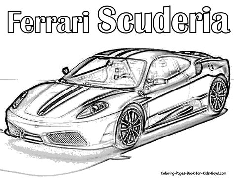 coloring pictures of supercars auto coloring scuderia ferrari car colouring pages