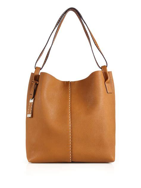 michael kors rogers large hobo bag in brown lyst