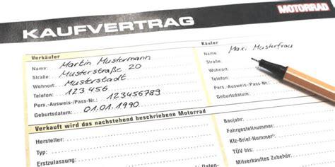 Motorrad Verkaufen Vertrag Vorlage by Kaufvertrag Motorrad F 252 R Privat Muster Vorlage Kostenlos