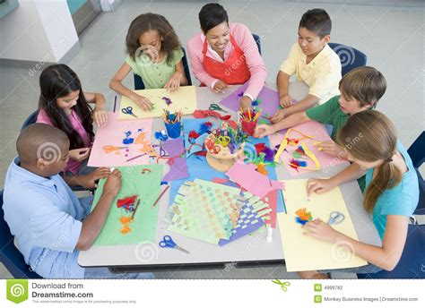 craft lessons for elementary school lesson stock photography image