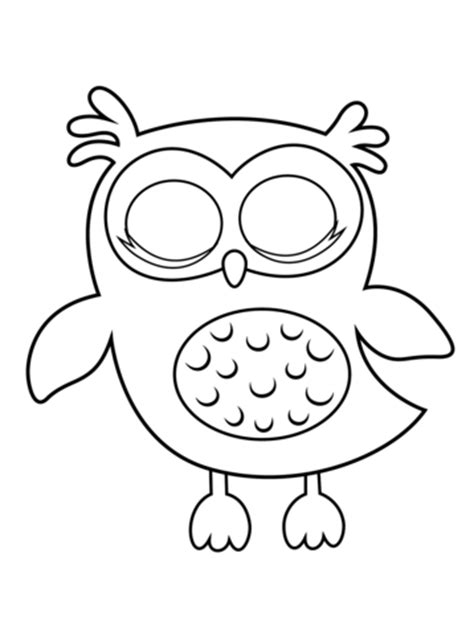 Sleepy Owl coloring page | Free Printable Coloring Pages