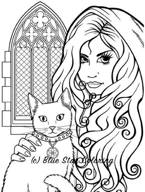 creepy coloring pages adults best halloween coloring books for adults gothic