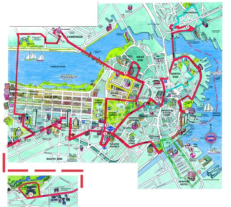 map boston boston beantown trolley map boston massachusetts mappery