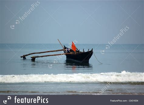 fishing boat online india outdoor activity outrigger fishing boat goa stock