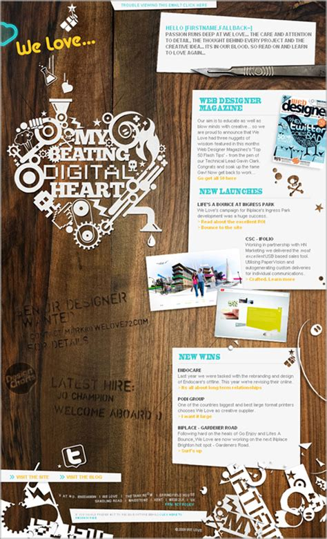 email layout inspiration 30 impressive email newsletter designs for your