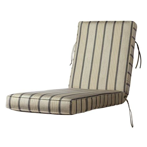 chaise lounge cushions home depot home decorators collection sunbrella pebble outdoor chaise