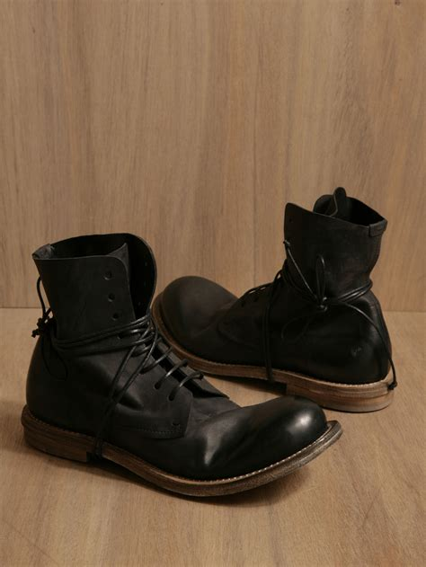 marsell boots marsell marsell mens zucca leather anklehigh laceup boots