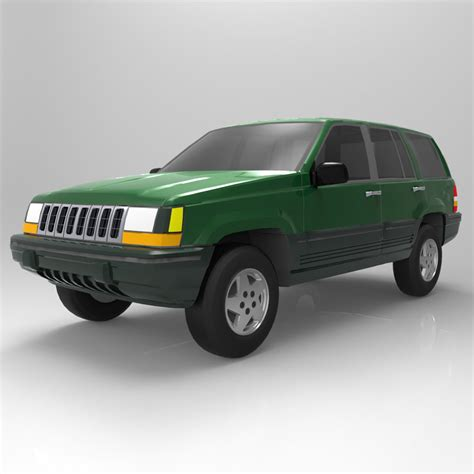 94 jeep grand transmission jeep grand 94 3d model obj cgtrader