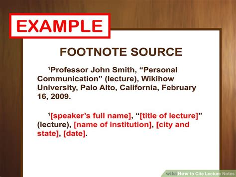 footnote format in powerpoint 3 ways to cite lecture notes wikihow