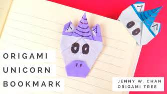 How To Make An Origami Unicorn - origami unicorn bookmark ted s