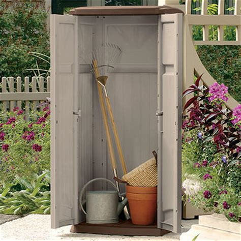 suncast 174 vertical storage shed 138479 patio storage at