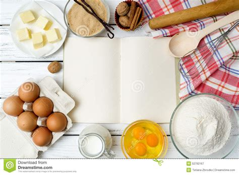 four ingredient cookbook books recipe book background stock image image of baking
