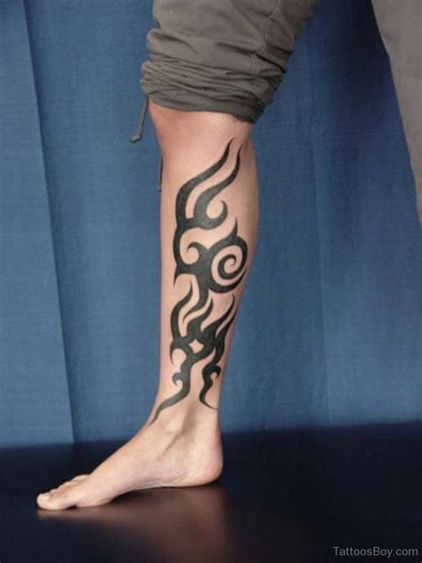 tribal tattoo on leg leg tattoos designs pictures page 2