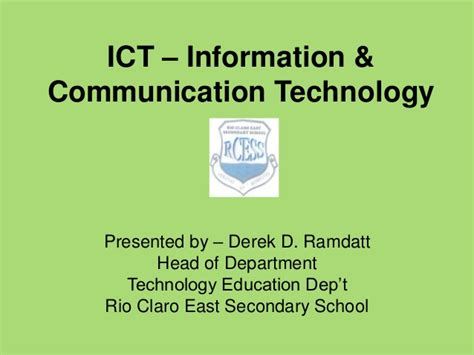 ict information communication technology ict information communication technology