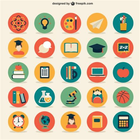 design icon free online education icons collection vector free download