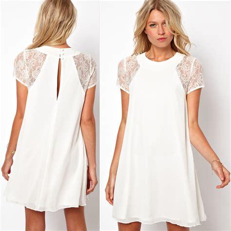 2015 summer clothing lace sleeve white back