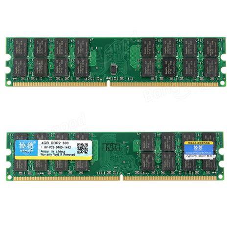 Ram Ddr2 Vgen 4gb xiede 4gb ddr2 800mhz pc2 6400 dimm 240pin for amd chipset motherboard desktop memory ram sale
