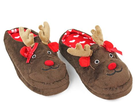 christmas house shoes rudolph slippers reindeer slippers christmas slippers
