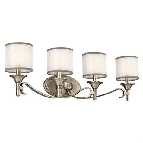 Kichler Lacey Antique Pewter Four Light Bath Fixture On Sale Kichler Bathroom Light Fixtures