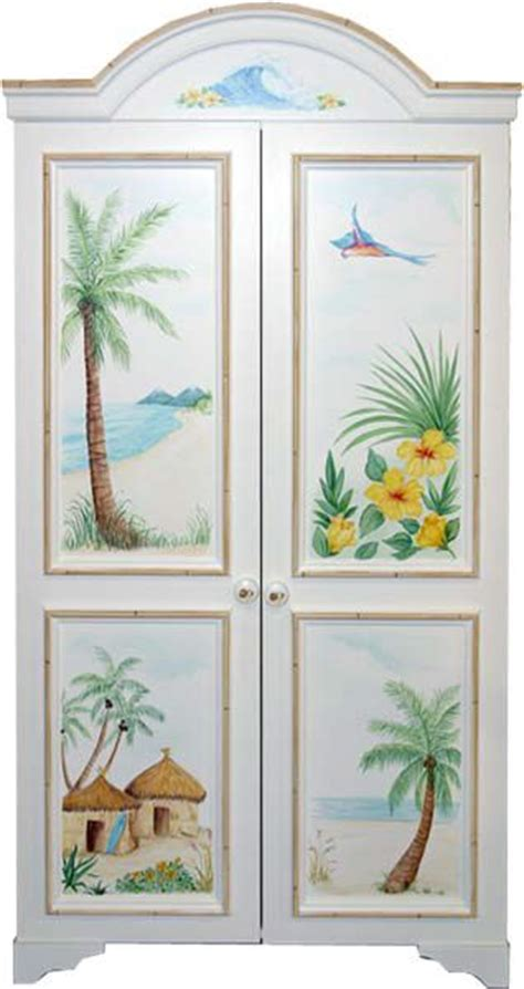 tropical armoire tropical armoire i love hawaii pinterest armoires tropical and beach scenes