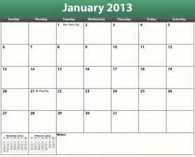 Calnedar Template by Printable Pdf 2013 Calendar Template