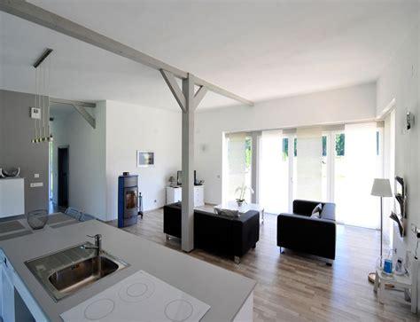canapé en u design maison bois plain pied type loft nos maisons ossatures