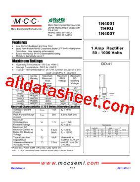 diode mcc 1n4007 diode mcc 1n4007 28 images 1n4002 datasheet pdf datasheetq 100pcs fr104 fast recovery