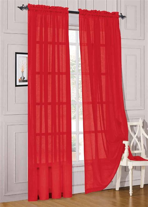 red sheer curtain panels 4 types of red sheer curtains