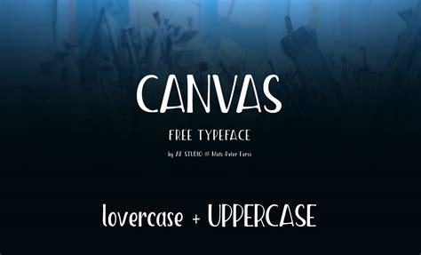 canvas font befontscom