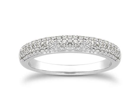 wedding bands pave row micro pave wedding ring band in 14k