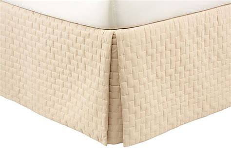 Quilted Bedskirt by Quilted Bed Skirt Sand