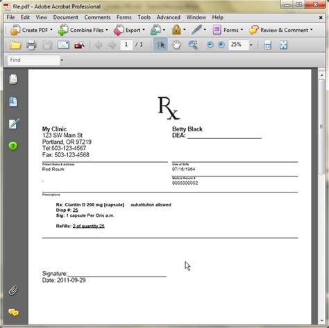 prescription form template word printable prescription forms downloadable blank