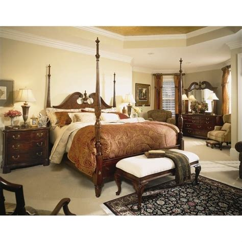 american drew cherry grove bedroom set american drew cherry grove wood poster bed 5 piece bedroom