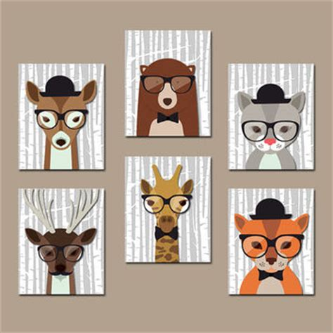 hipster nursery hipster woodland animals nursery wall art from trm design