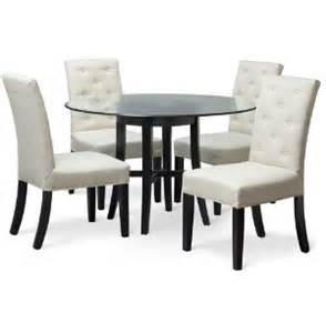 Art Van Dining Room Sets 48 Quot Rnd Glass Table W 4 Chairs Art Van Furniture