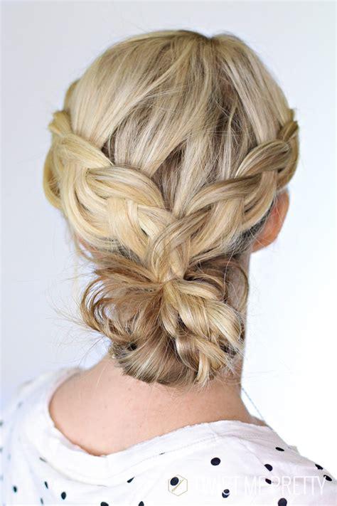 braided bun day  twist  pretty