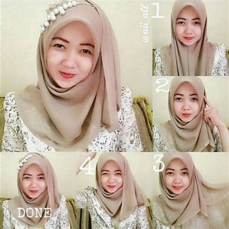 tutorial jilbab pesta syar i video hijab jilbab segi empat hijaberduit